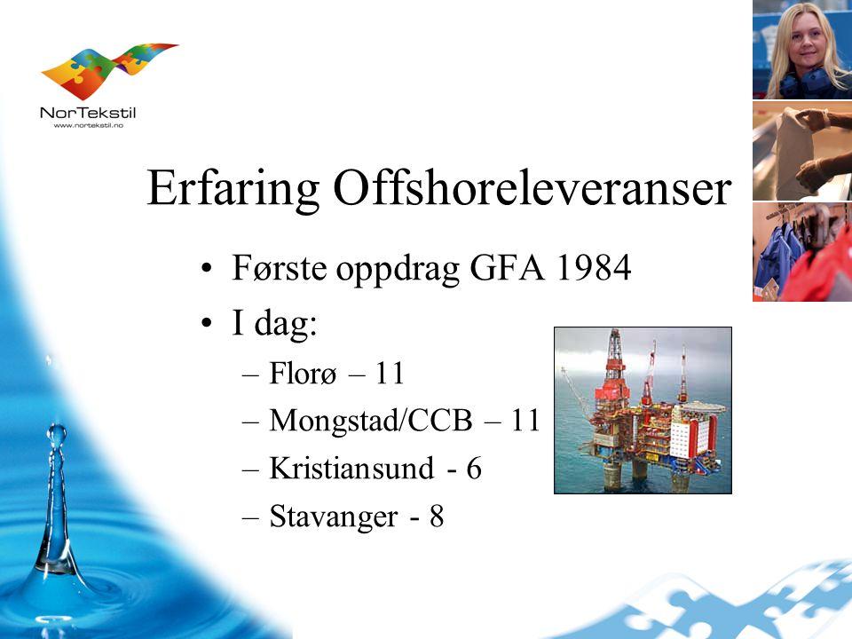 Erfaring Offshoreleveranser