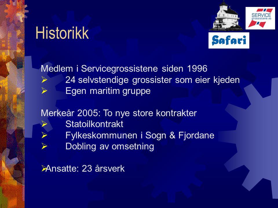 Historikk Medlem i Servicegrossistene siden 1996