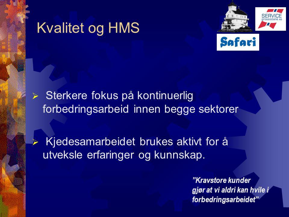 Kvalitet og HMS Sterkere fokus på kontinuerlig forbedringsarbeid innen begge sektorer.