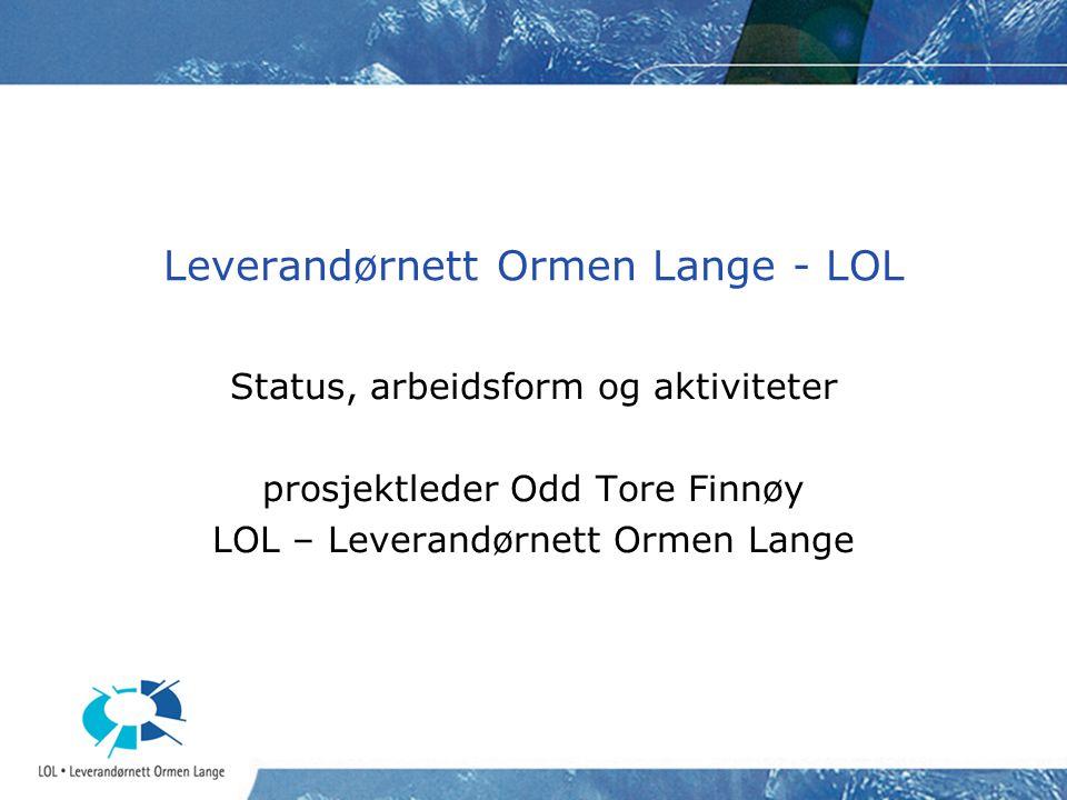 Leverandørnett Ormen Lange - LOL
