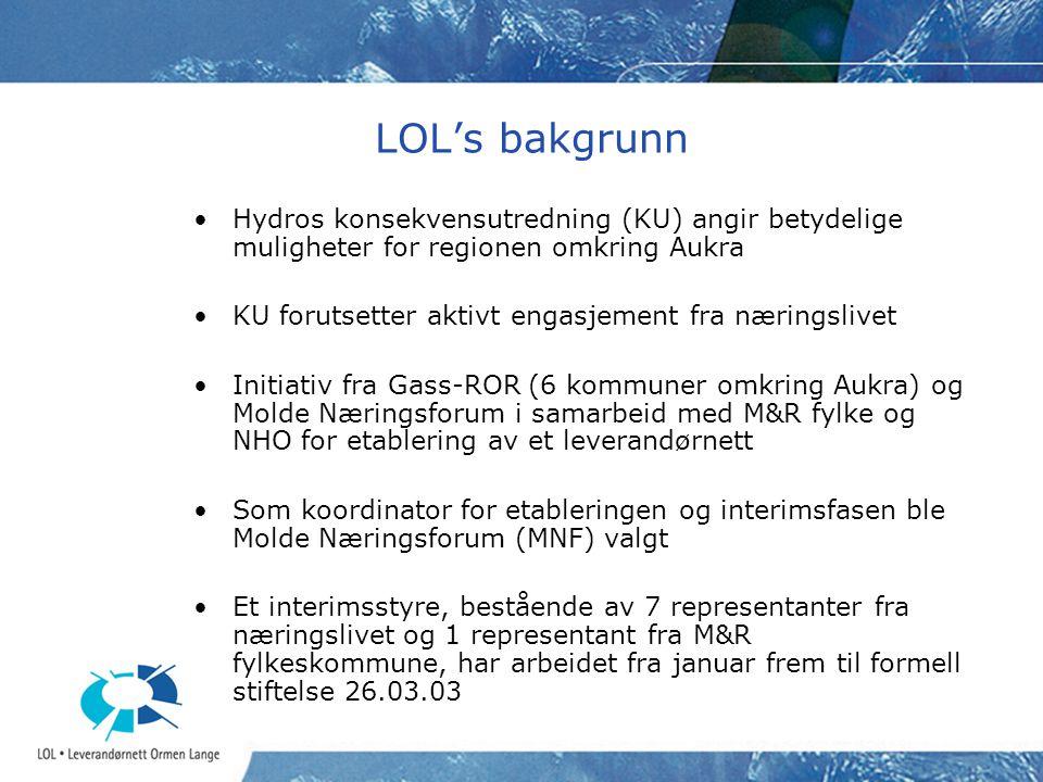 LOL's bakgrunn Hydros konsekvensutredning (KU) angir betydelige muligheter for regionen omkring Aukra.