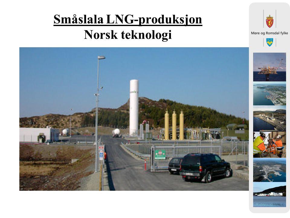Småslala LNG-produksjon Norsk teknologi
