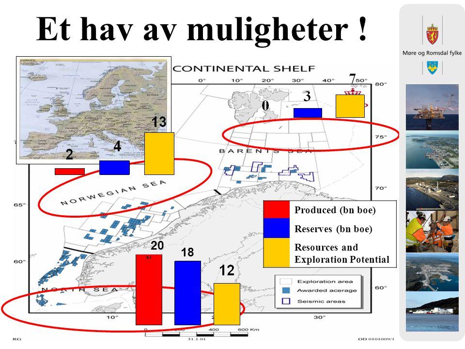Et hav av muligheter ! 20 18 Produced (bn boe) Reserves (bn boe)