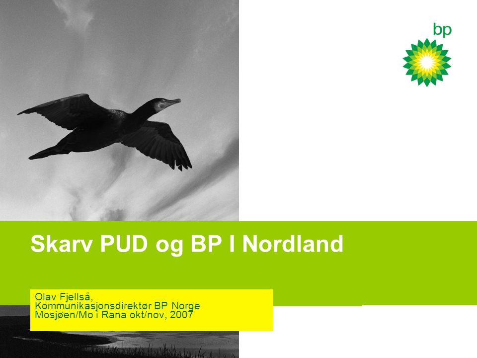 Skarv PUD og BP I Nordland
