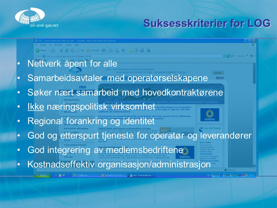 Suksesskriterier for LOG
