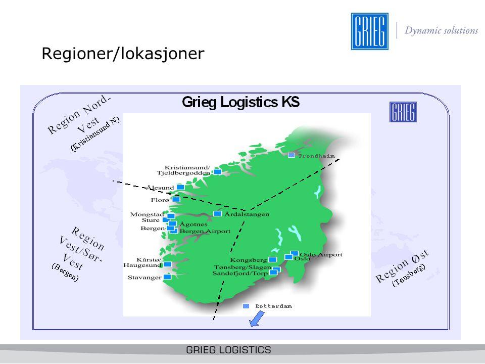 Regioner/lokasjoner