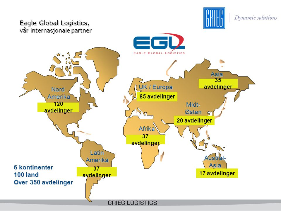 Eagle Global Logistics, vår internasjonale partner