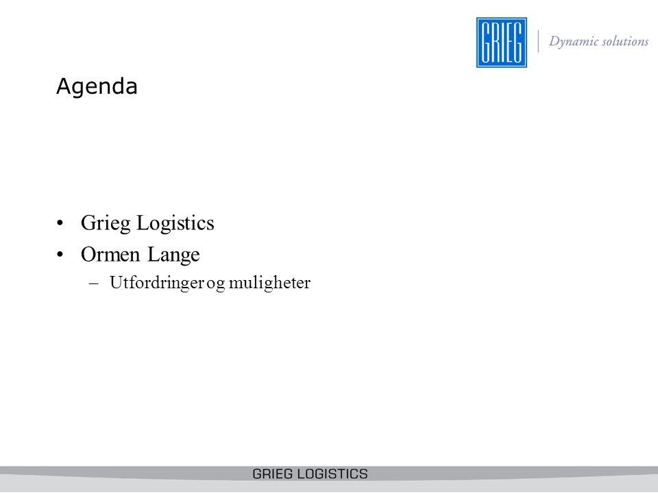 Agenda Grieg Logistics Ormen Lange Utfordringer og muligheter