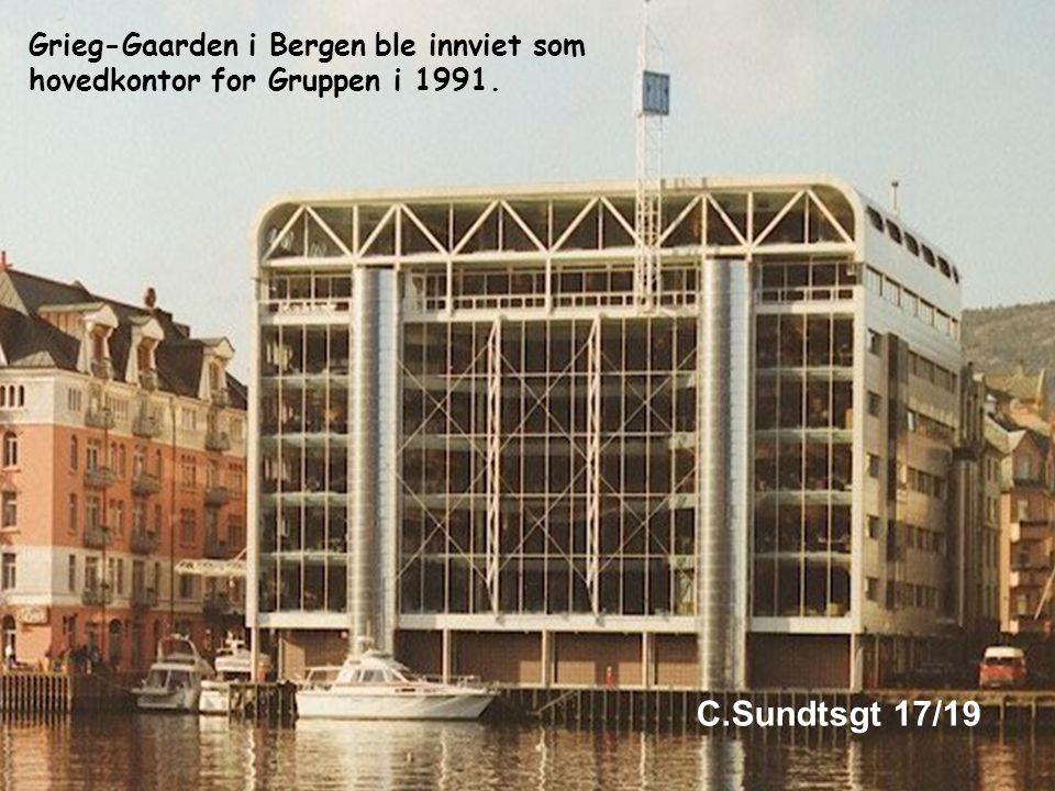 Grieg-Gaarden i Bergen ble innviet som hovedkontor for Gruppen i 1991.