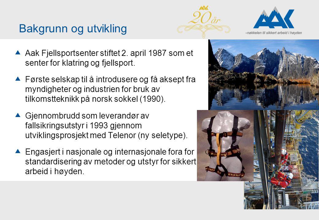 Bakgrunn og utvikling Aak Fjellsportsenter stiftet 2. april 1987 som et senter for klatring og fjellsport.