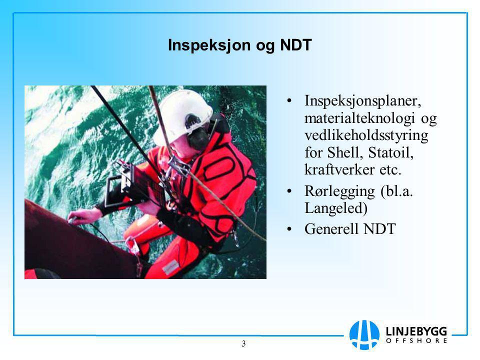 Inspeksjon og NDT Inspeksjonsplaner, materialteknologi og vedlikeholdsstyring for Shell, Statoil, kraftverker etc.
