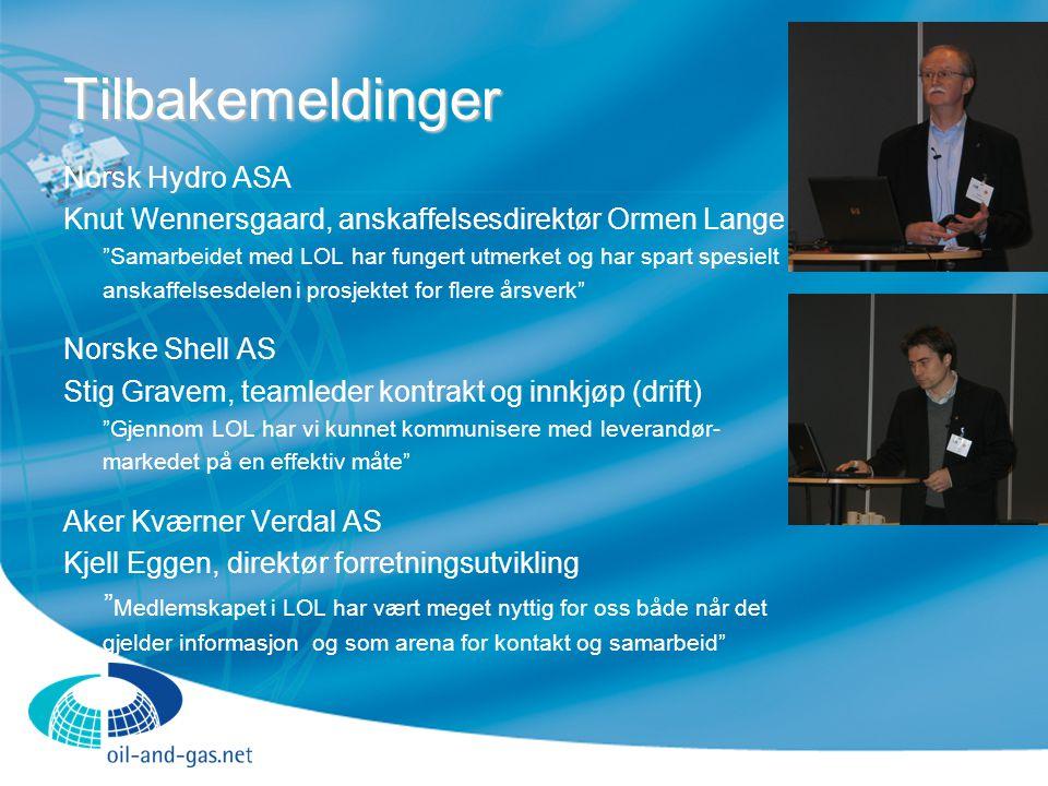Tilbakemeldinger Norsk Hydro ASA