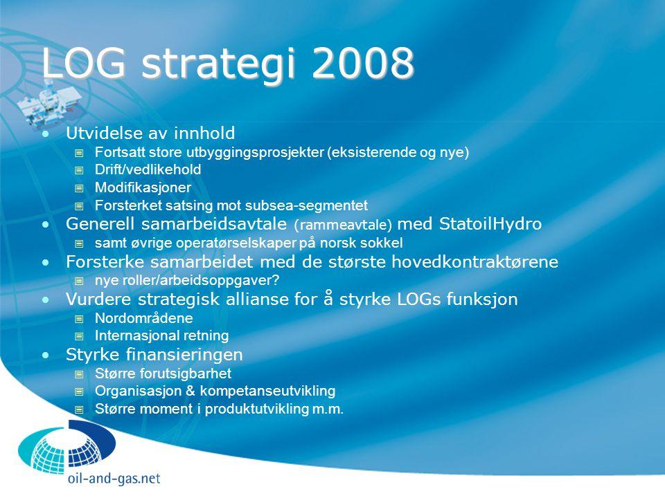 LOG strategi 2008 Utvidelse av innhold