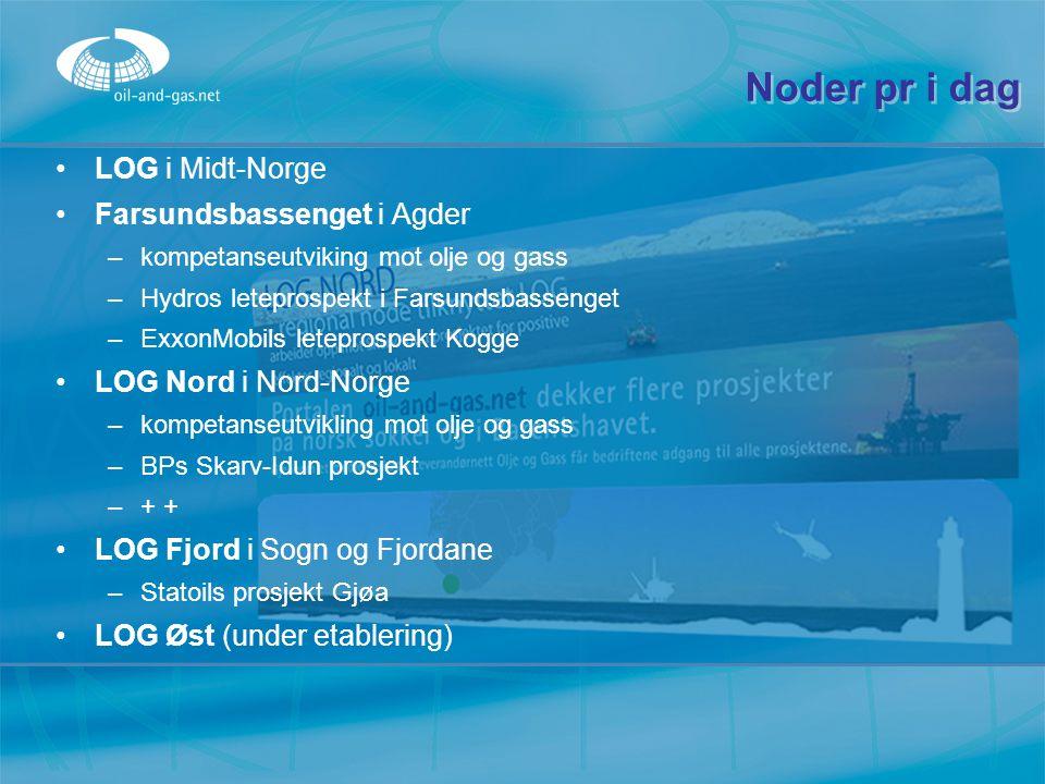 Noder pr i dag LOG i Midt-Norge Farsundsbassenget i Agder