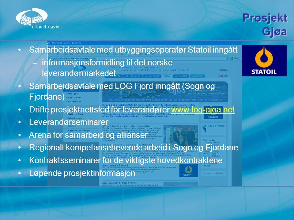 Prosjekt Gjøa Samarbeidsavtale med utbyggingsoperatør Statoil inngått