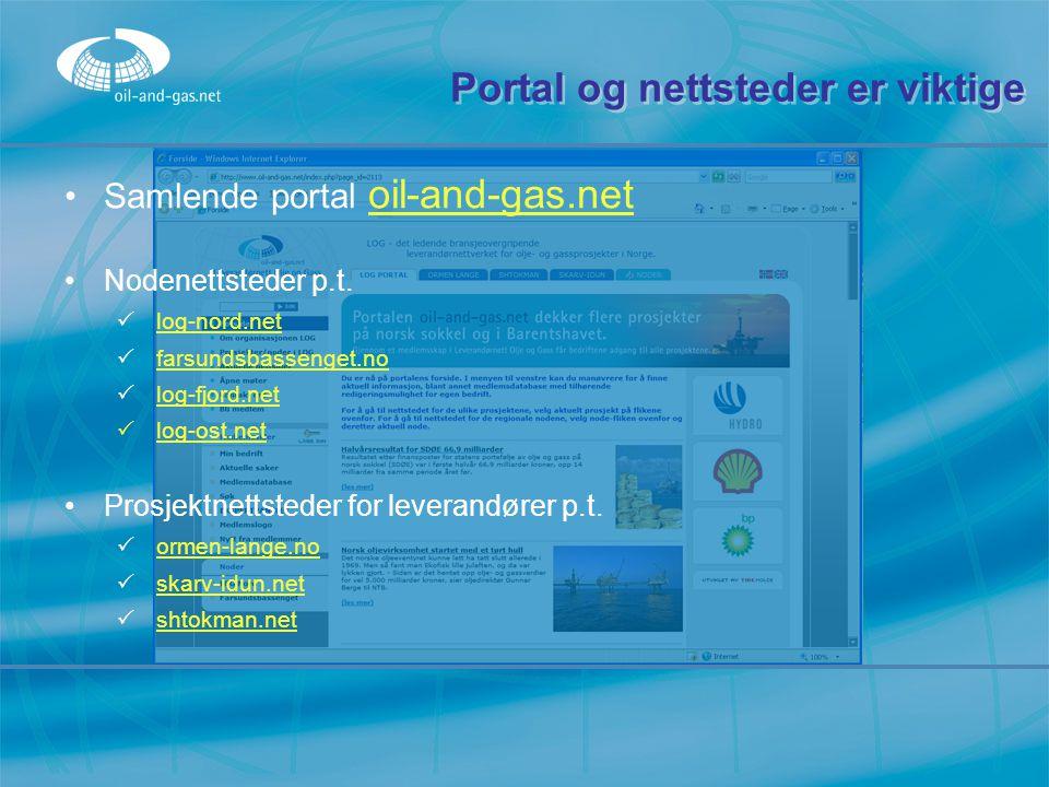 Portal og nettsteder er viktige
