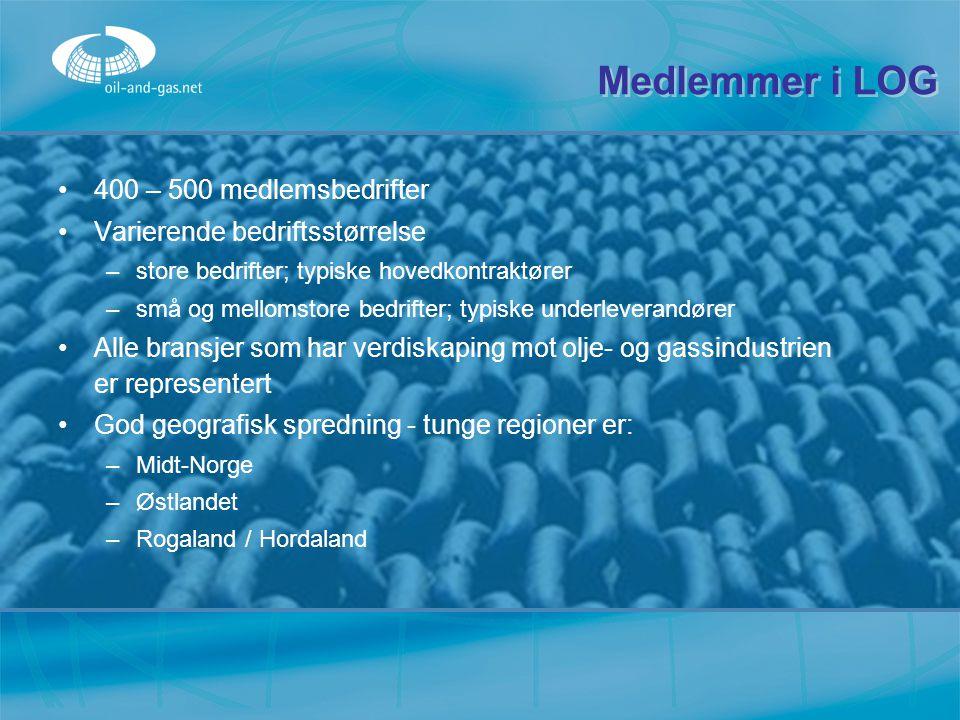 Medlemmer i LOG 400 – 500 medlemsbedrifter