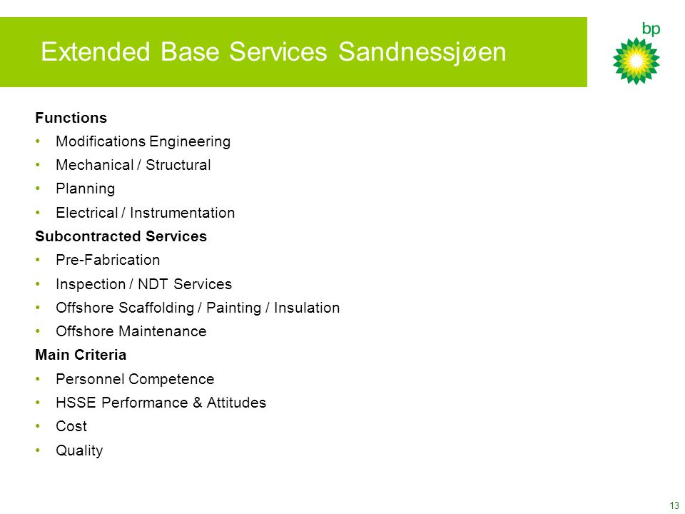 Extended Base Services Sandnessjøen