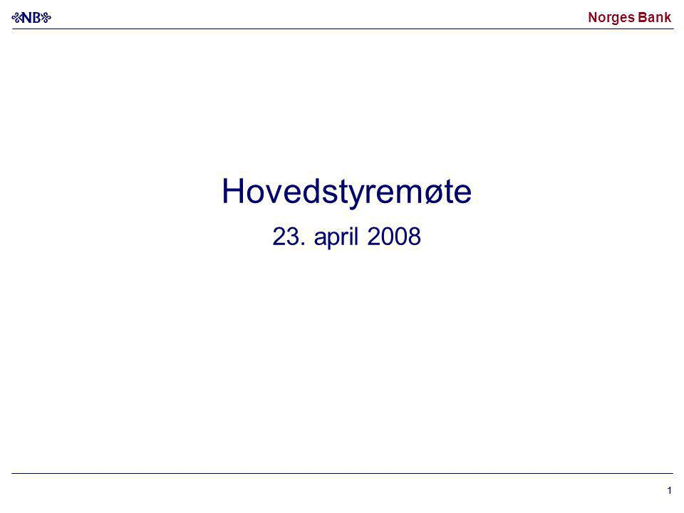 Hovedstyremøte 23. april 2008 1