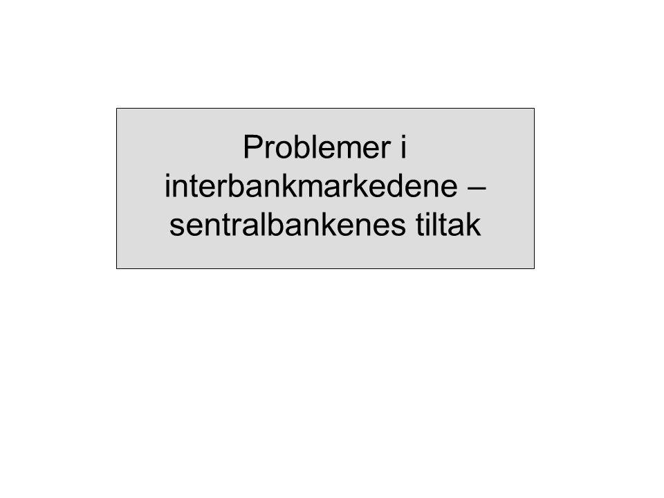 Problemer i interbankmarkedene – sentralbankenes tiltak