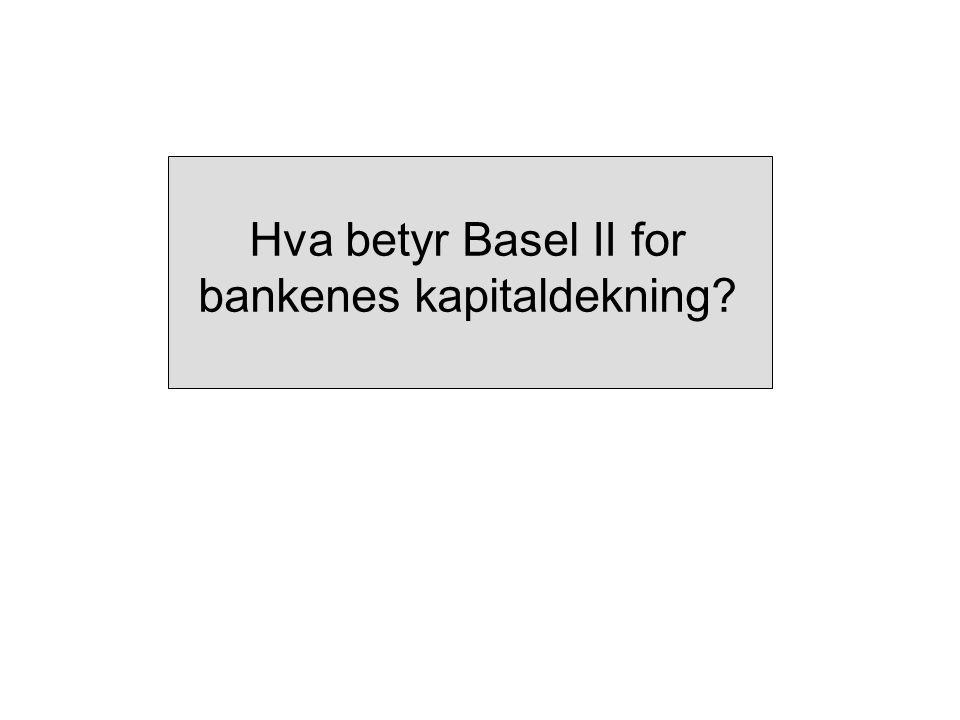 Hva betyr Basel II for bankenes kapitaldekning