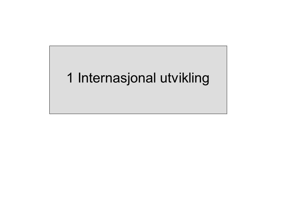 1 Internasjonal utvikling