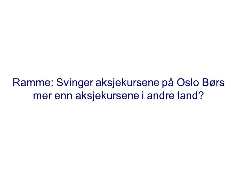 Ramme: Svinger aksjekursene på Oslo Børs mer enn aksjekursene i andre land