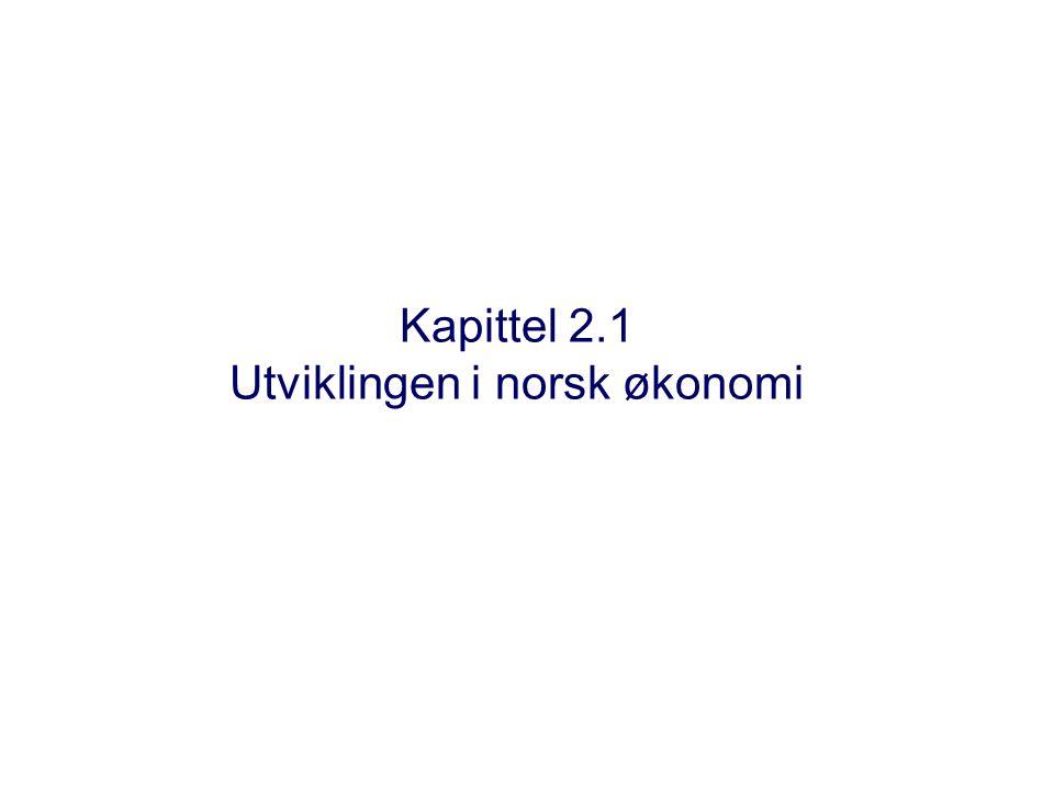 Kapittel 2.1 Utviklingen i norsk økonomi