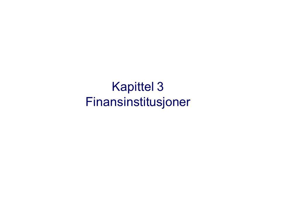 Kapittel 3 Finansinstitusjoner