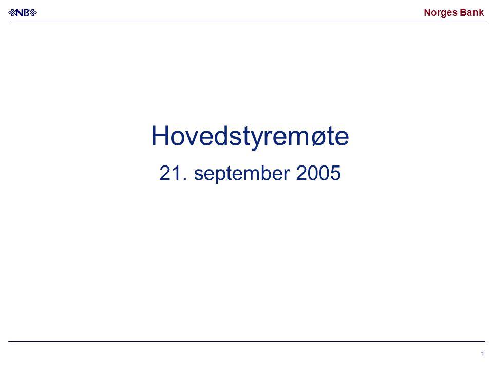 Hovedstyremøte 21. september 2005