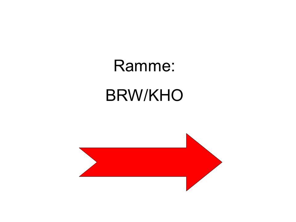 Ramme: BRW/KHO