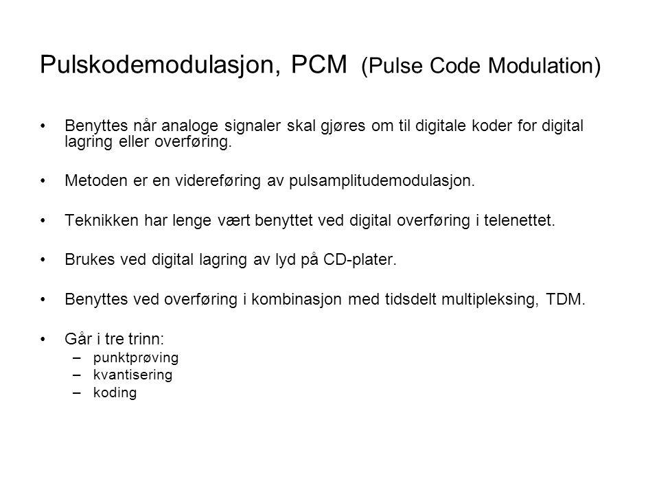 Pulskodemodulasjon, PCM (Pulse Code Modulation)