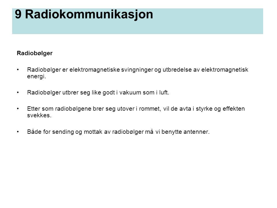 9 Radiokommunikasjon Radiobølger