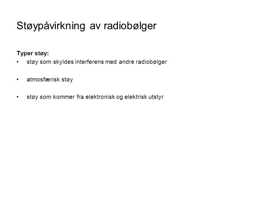 Støypåvirkning av radiobølger