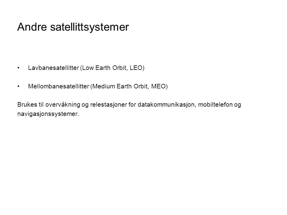 Andre satellittsystemer
