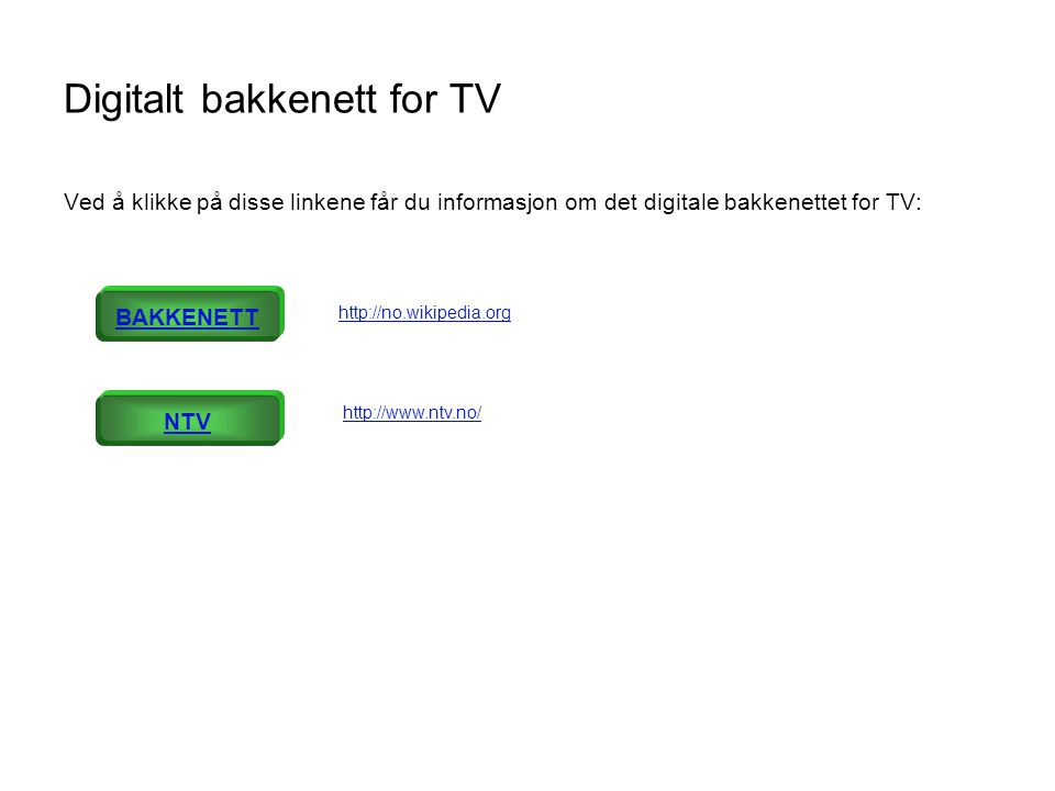 Digitalt bakkenett for TV