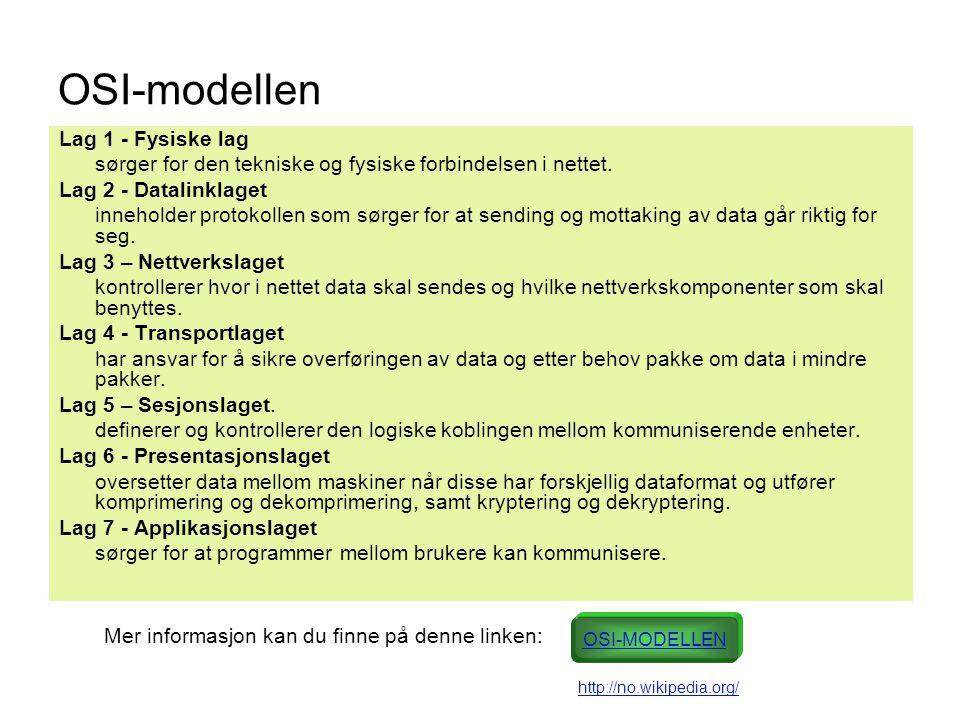 OSI-modellen Lag 1 - Fysiske lag