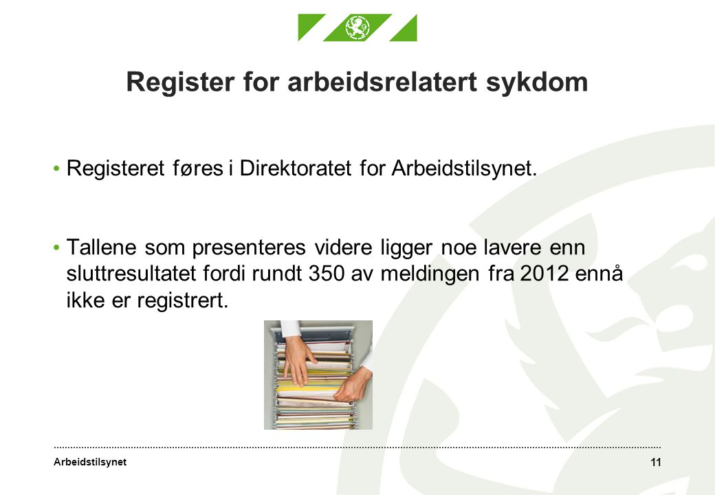Register for arbeidsrelatert sykdom