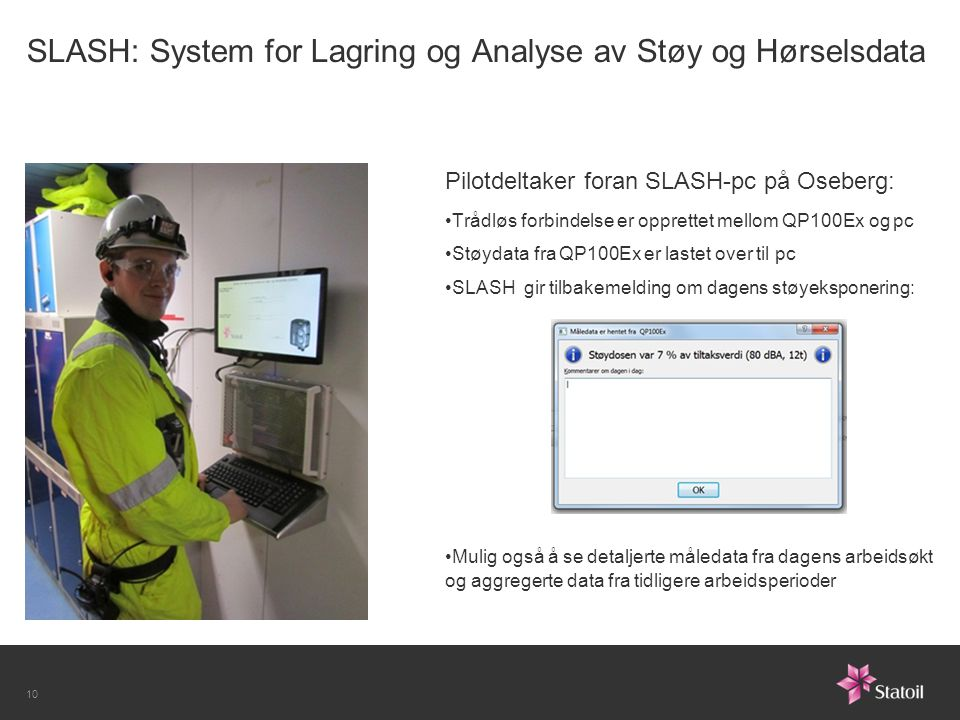 SLASH: System for Lagring og Analyse av Støy og Hørselsdata