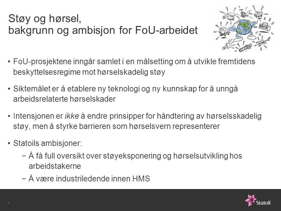 Støy og hørsel, bakgrunn og ambisjon for FoU-arbeidet