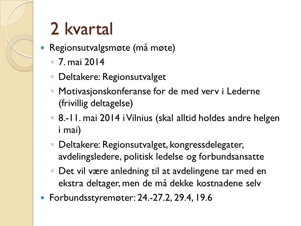 2 kvartal Regionsutvalgsmøte (må møte) 7. mai 2014