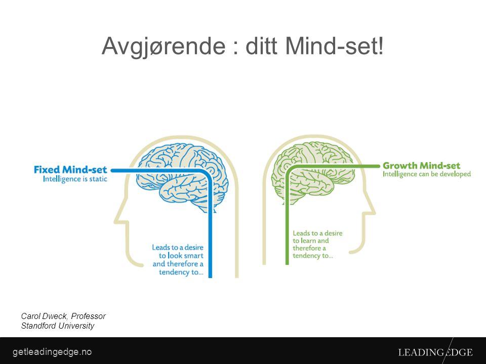 Avgjørende : ditt Mind-set!