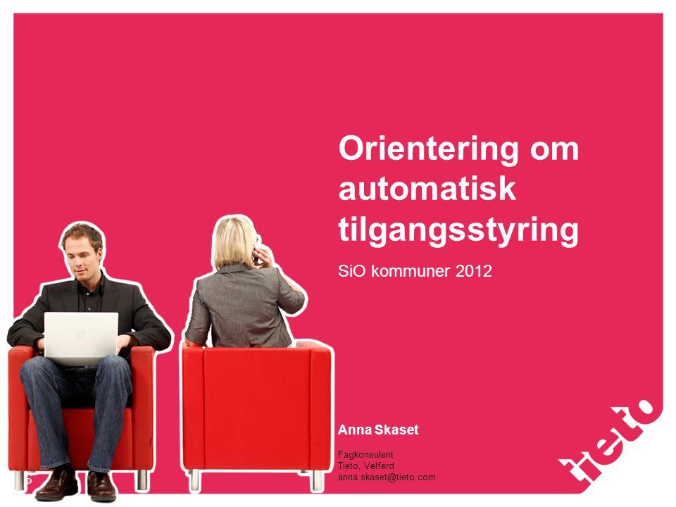 Orientering om automatisk tilgangsstyring