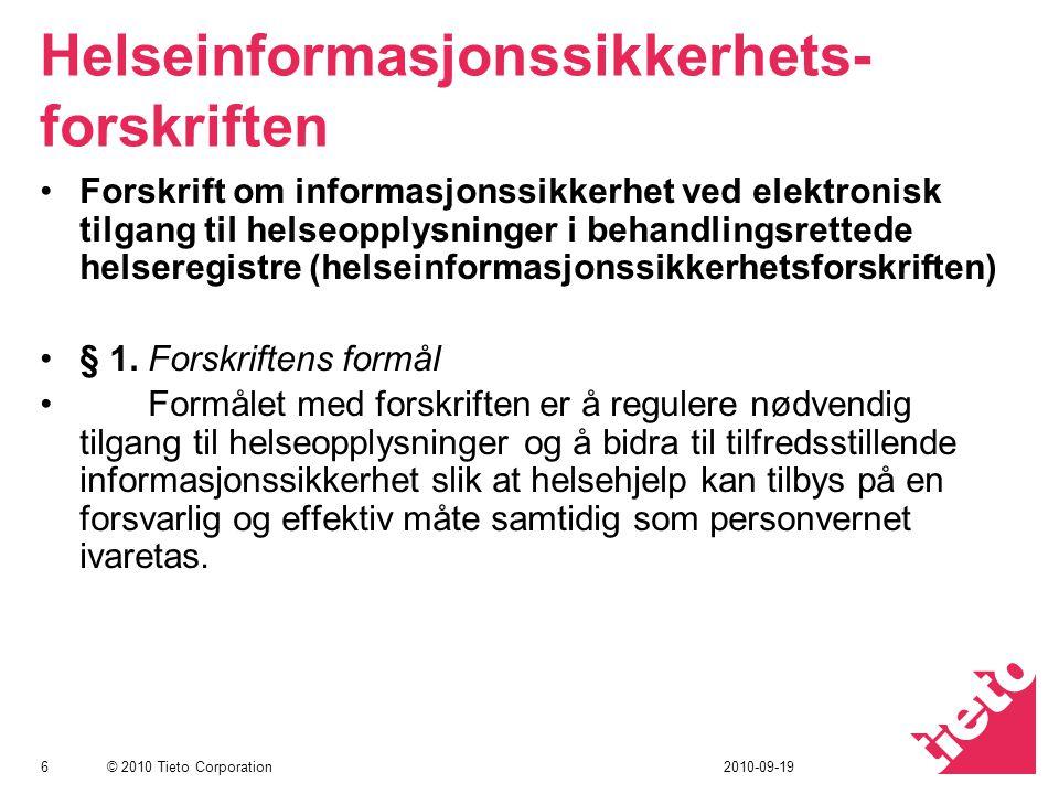 Helseinformasjonssikkerhets-forskriften