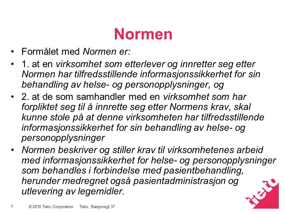 Normen Formålet med Normen er:
