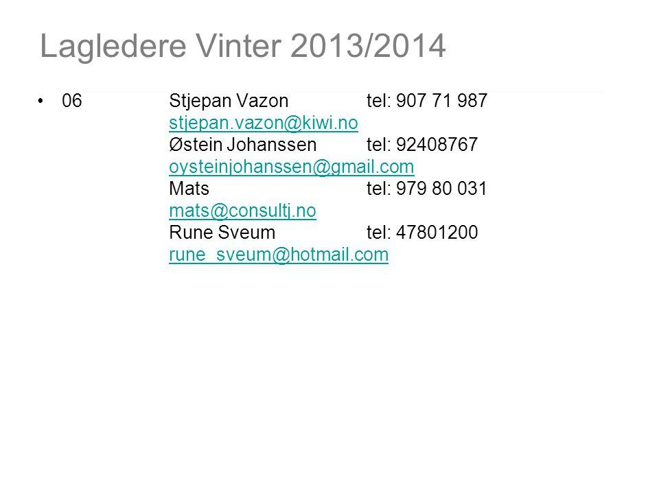 Lagledere Vinter 2013/2014