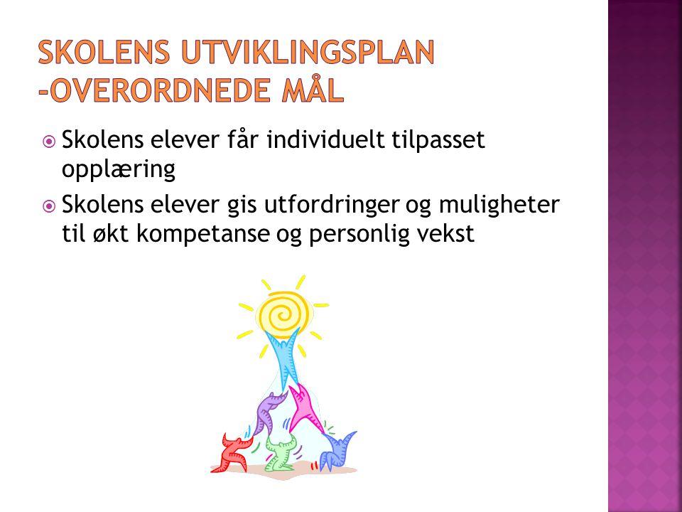 Skolens utviklingsplan -overordnede mål