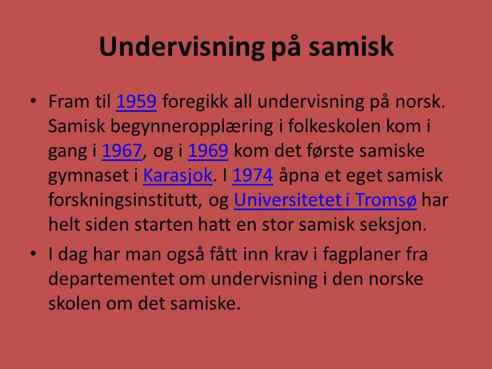 Undervisning på samisk