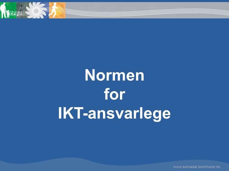 Normen for IKT-ansvarlege