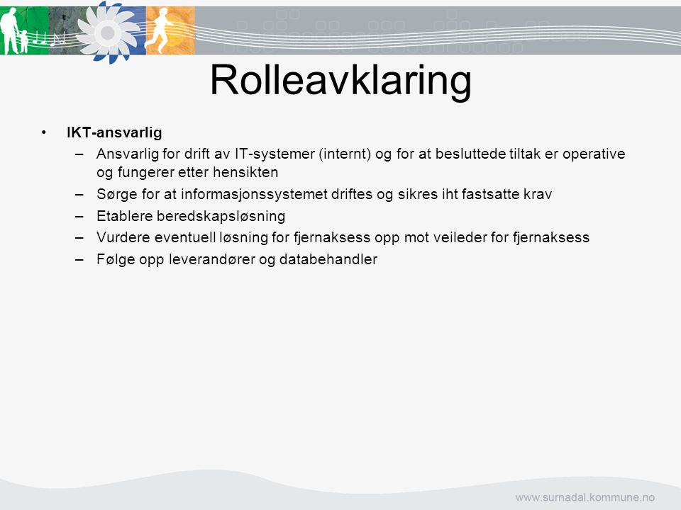 Rolleavklaring IKT-ansvarlig